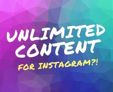 unlimited instagram content