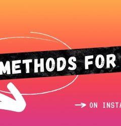 5 methods ig