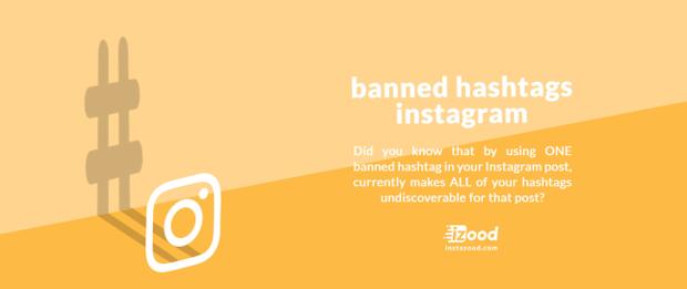 hashtags Instagram interdits