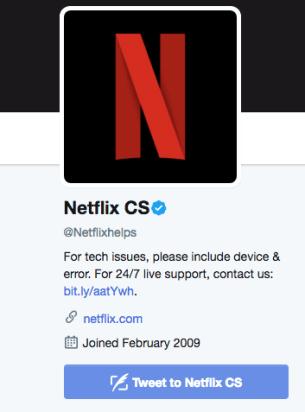 Netflix CS Twitter Page