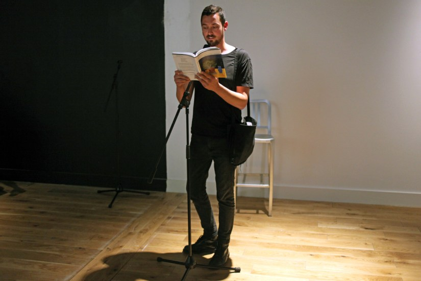 Greg Thorpe performing 'I was never no good after that night, Charlie...' at Ambition by Instigate Arts at HOMEmcr on Saturday 9th July 2016