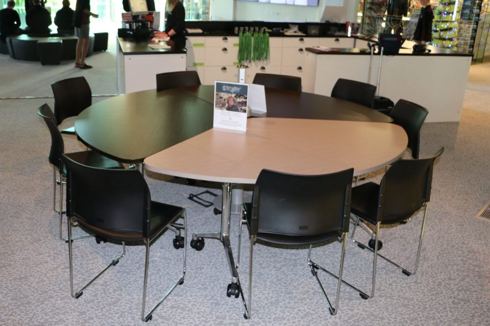 T3 TEAM Table on site at Puke Ariki Museum Library.