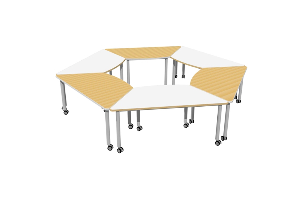 T2 TRAINING Table grouped to seat up to a collaborative group of up to 12 people.