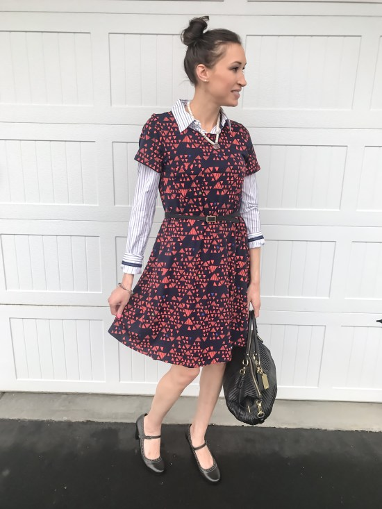 10 ways to wear a LulaRoe Carly dress- business casual 2