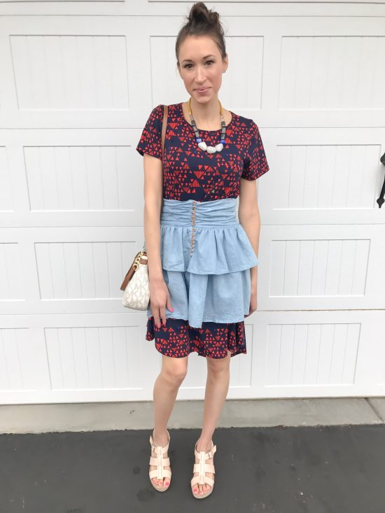 10 ways to wear a LulaRoe Carly dress- casual chic 5