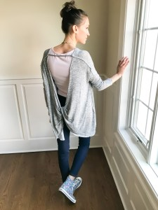 early spring outfit ideas- free people top and flowered converse