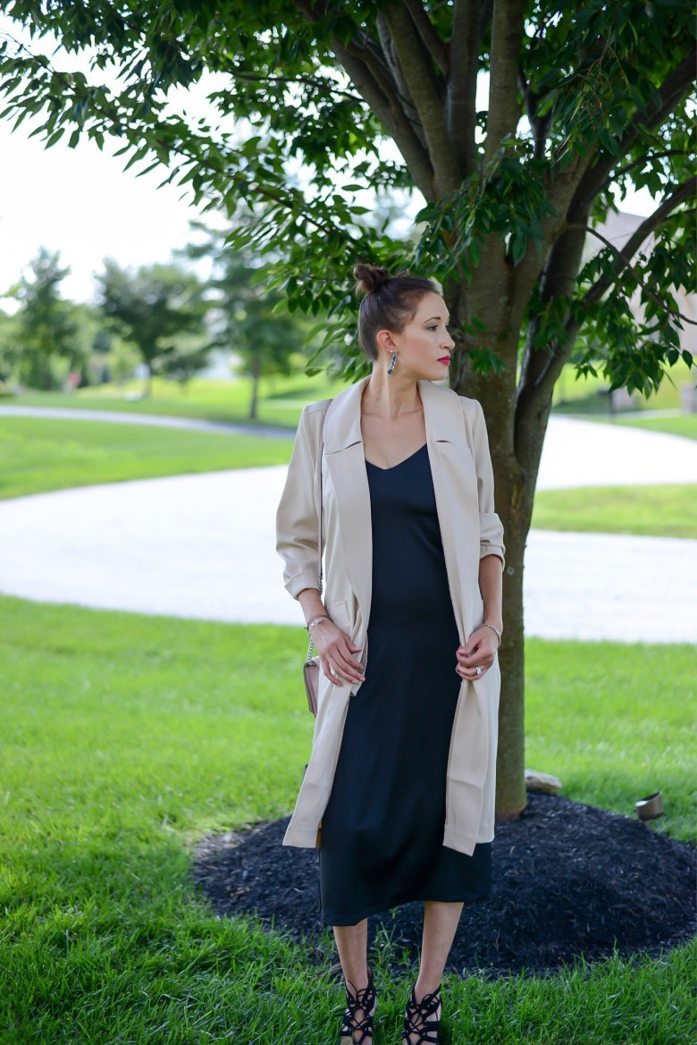 Fall Wardrobe Staples: Jackets and Booties- Camel Trench by Two Feathers