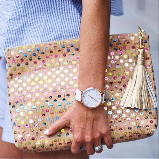 cork carryall clutch