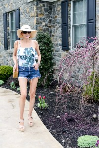 Summer Fashion Amazon Finds Under $21 (See My Outfits!)- palm print one-piece swimsuit