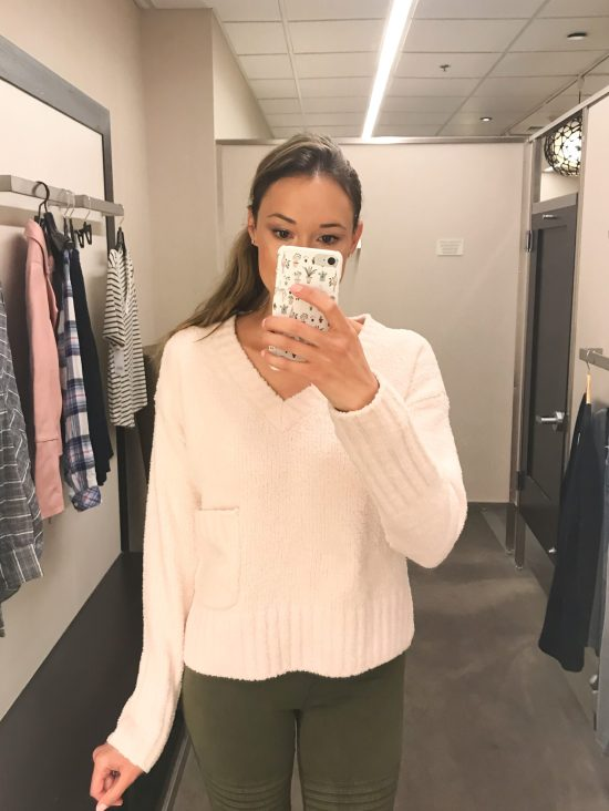 What I Bought from the 2018 Nordstrom Anniversary Sale blush pink sweater