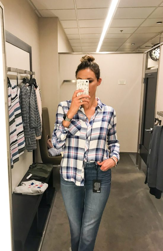 What I Bought from the 2018 Nordstrom Anniversary Sale- plaid button-down