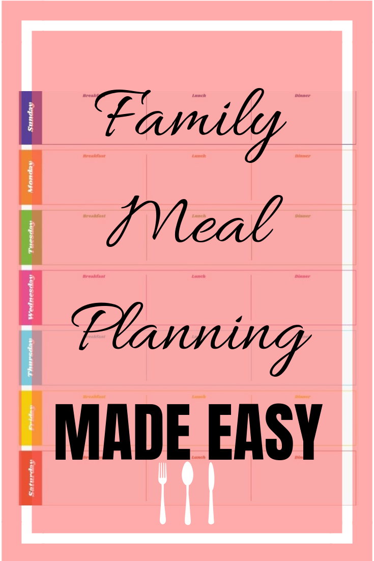family meal planning, organization, lifestyle