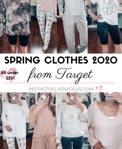 spring clothes from Target; lots of tie-dye