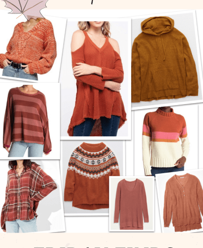 rust colored tops for women
