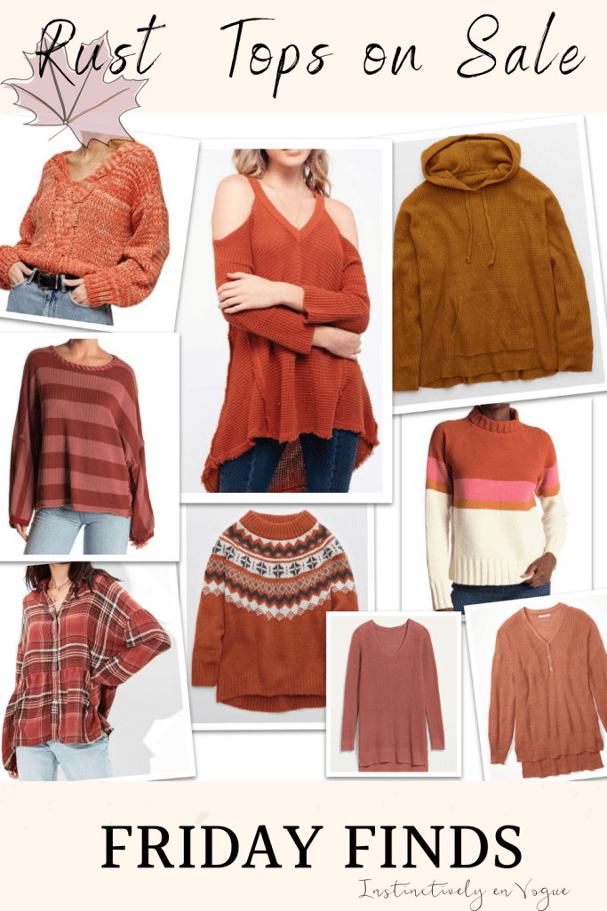 fall fashion trend 2020- rust tops