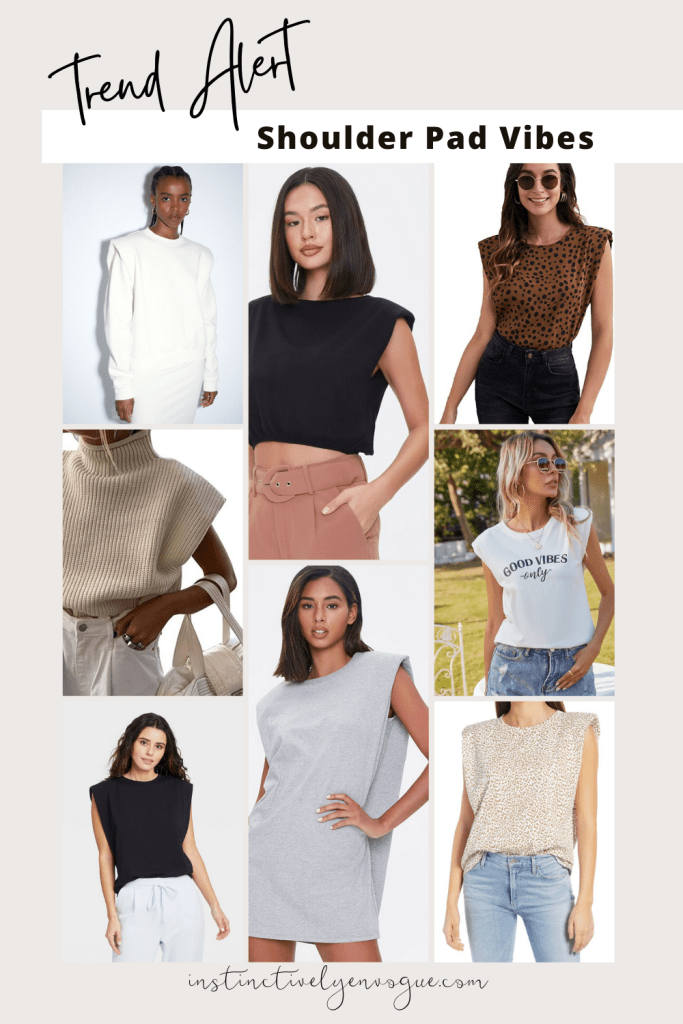 fashion trends for women 2021 - shoulder pad tops