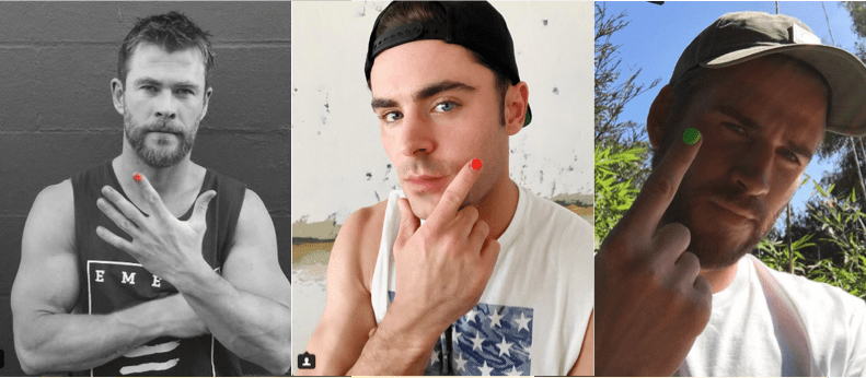 Hemsworth, Efron, & Other Men Are Wearing Nail Polish This October ...