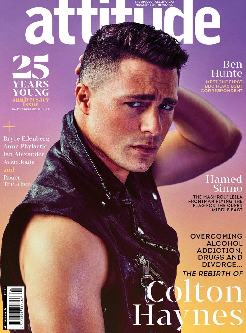 Colton Haynes covers Attitude Magazine's 25th Anniversary Issue