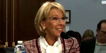 Education Secretary Betsy DeVos (screen capture)