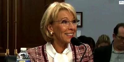 Education Secretary Betsy DeVos (screen capture)