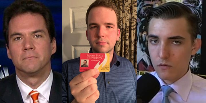 Jack Burkman, Hunter Kelly, Jacob Wohl (images via social media)