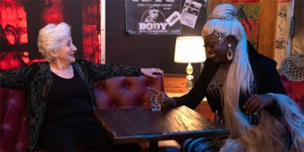 Olympia Dukakis and Bob the Drag Queen in 'Tales of the City' (photos courtesy of Netflix)