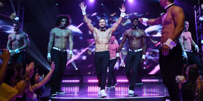 Vinny Guadagnino takes a bow with the Chippendales in Las Vegas (all photos: Denise Truscello/courtesy Chippendales)