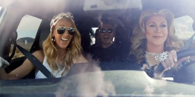 Celine Dion announces world tour with help from Vegas drag queens (screen capture)