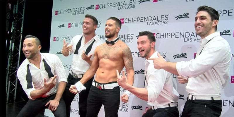 Vinny Guadagnino with the Chippendales in Las Vegas