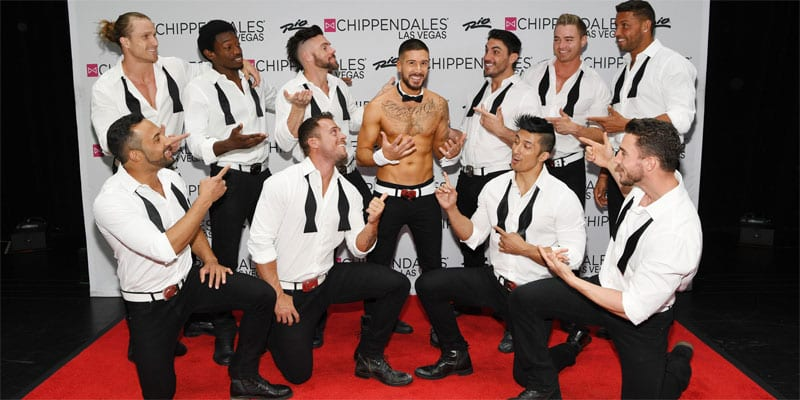 Vinny Guadagnino with the Chippendales in Las Vegas (all photos: Denise Truscello/courtesy Chippendales)