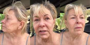 Roseanne Barr claims she put the 'Q' in LGBTQ (images via screen capture/YouTube)