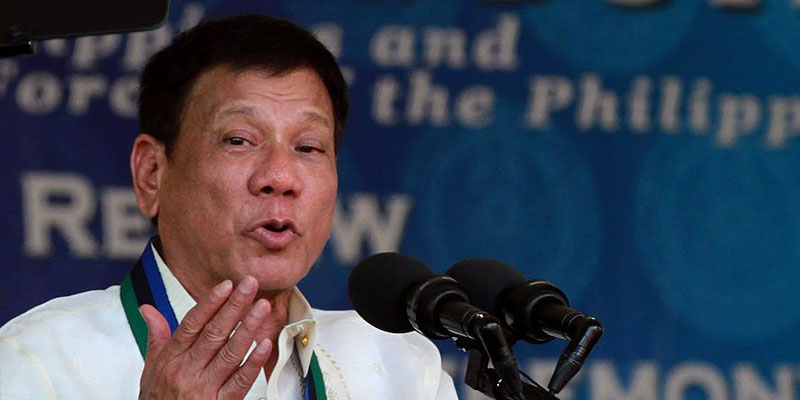 Philippines President Rodrigo Duterte claims he was once gay but 'cured' himself