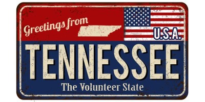 "Stock photo featuring a sign that reads ""Welcome to Tennessee"""
