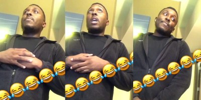 Screen captures of hotel clerk's reactions after being called n-word