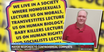 Alabama Mayor Mark Chambers defends controversial remarks about LGBTQs (screen capture)
