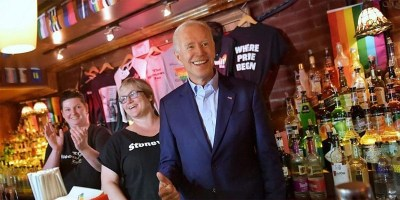 Former Vice President Joe Biden visits the Stonewall Inn (image via Instagram/JoeBiden)