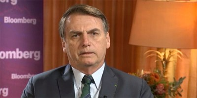 President Jair Bolsonaro of Brazil (image via Bloomberg video)