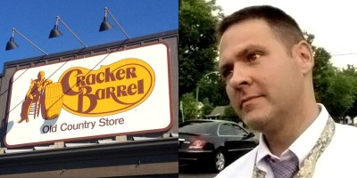 Cracker Barrel restaurant tells hate pastor Grayson Fritts to 'sashay away'