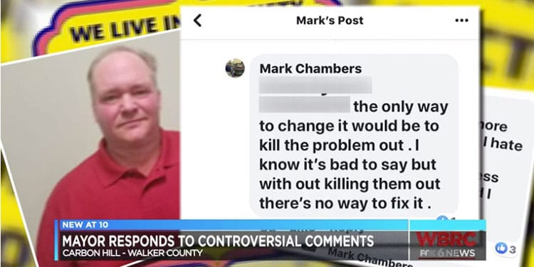 "Mayor Chambers said his solution was to ""kill out"" LGBTQs"