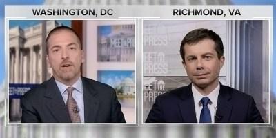 Chuck Todd interviews Mayor Pete Buttigieg on 'Meet The Press' (screen capture)