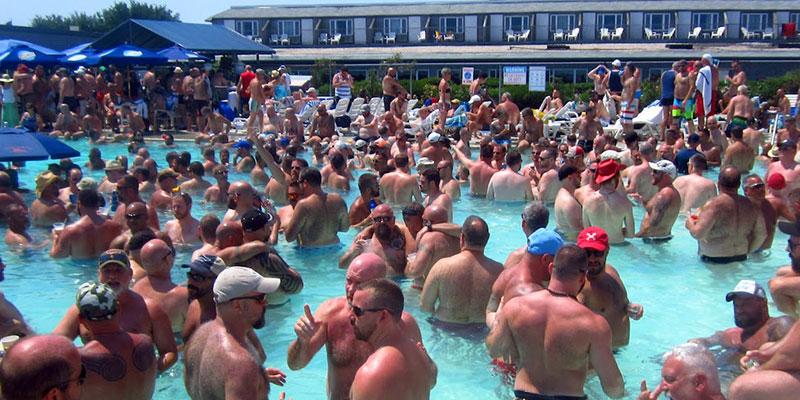 Provincetown Inn Bear Pool Party during Bear Week 2014 (4K Video) - YouTube