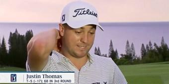 Professional golfer Justin Thomas