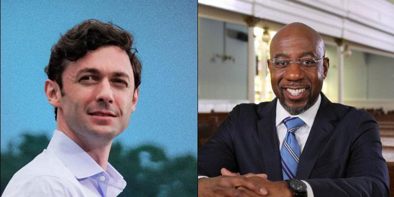 Senators-elect Jon Ossoff and Raphael Warnock