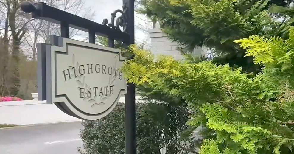 The sign in front of Highgrove Estates