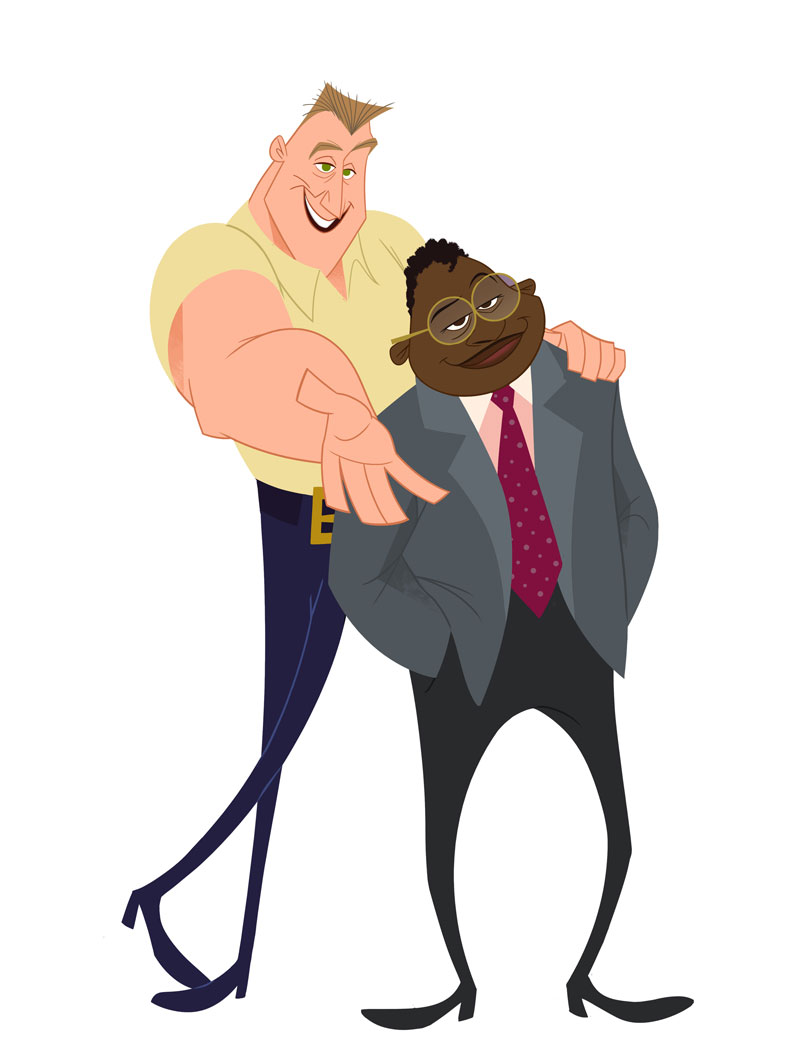 The animated characters Barry and Randall