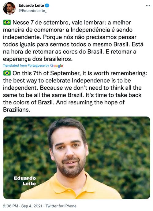 Gov. Eduardo Leite of Brazil