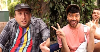 "Michael Henry and Matthew Scott Montgomery in ""Bubble Gum Gay"""