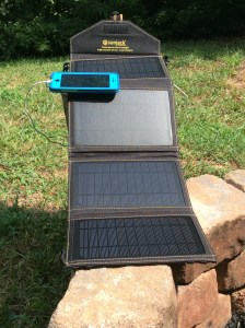 SunJack 14w + 8000mAh Battery Portable Solar Charger
