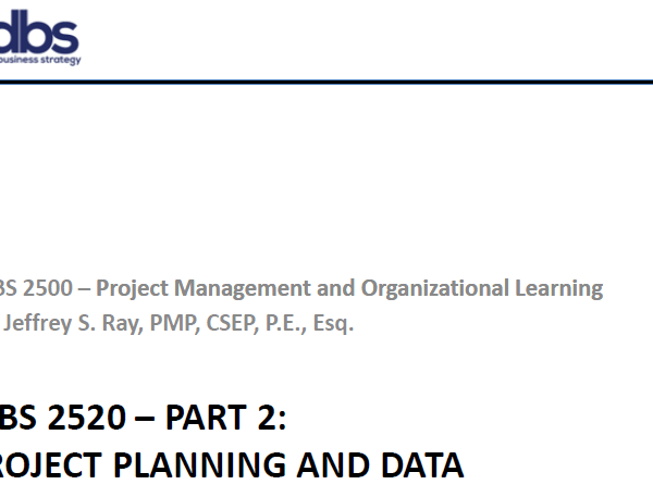 PM Part 2 — Project Planning and Data Management