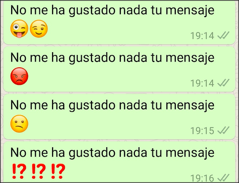 3rd Messages with different emojis